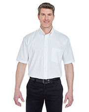 Ultraclub 8977 Men Short-Sleeve Whisper Twill at GotApparel