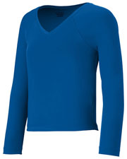 Augusta 9013 Girls V-Neck Long Sleeve Liner at GotApparel