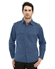 Tri-Mountain 920 Men Vortex Easy Care Slim Fit Long Sleeve Shirt at GotApparel
