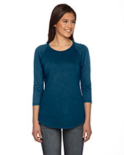 Authentic Pigment AP203W Women True Spirit Raglan T-Shirt at GotApparel