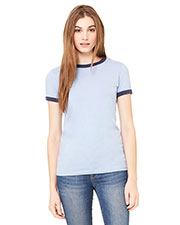 Bella + Canvas B6050 Women Jersey short sleeve Ringer TShirt at GotApparel