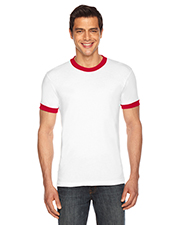 American Apparel BB410W Men Poly-Cotton Short-Sleeve Ringer T-Shirt at GotApparel