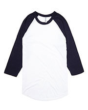 American Apparel BB453 PolyCotton Baseball Raglan Tee at GotApparel