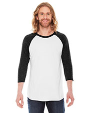 Custom Embroidered American Apparel BB453 PolyCotton Baseball Raglan Tee at GotApparel