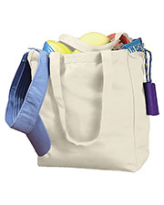Big Accessories / BAGedge BE008 Unisex 12 oz. Canvas Book Tote at GotApparel
