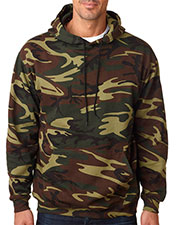 Code V 3969 Adult Camouflage Pullover Hooded Sweatshirt at GotApparel