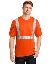 Cornerstone CS401 Men Ansi 107 Class 2 Safety T-Shirt at GotApparel