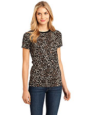District Made DM104CL Women  Perfect Weight Camo Crew Tee at GotApparel