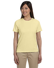 Devon & Jones Pink DP155W Women Jersey T-Shirt at GotApparel