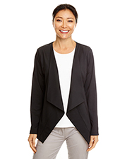 Devon & Jones DP465W Ladies 7.1 oz Perfect Fit Draped Open Blazer at GotApparel