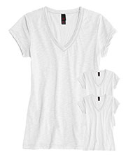 District DT240 Women Slub V-Neck Tee 3-Pack at GotApparel