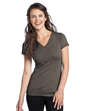 District DT242V Women TriBlend V-Neck Tee at GotApparel