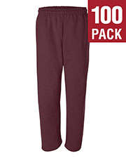 Gildan G123 Men Dryblend 9.3 Oz. 50/50 Open-Bottom Sweatpants 100-Pack at GotApparel
