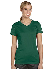 Russell Athletic JUL1JW Women DriPower V-Neck TShirt at GotApparel