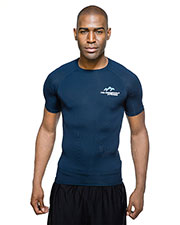 Tri-Mountain K604SS Men Gauntlet Crew Neck Short Sleeve Compression Shirt at GotApparel