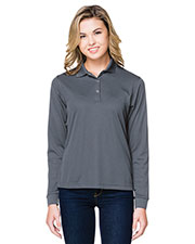 Tri-Mountain KL022LS Women Vital Snap Long-Sleeve Polo at GotApparel