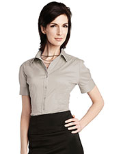 LILAC BLOOM LB755 Women Ashley Short Sleeve Woven Shirt at GotApparel