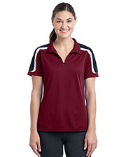 Sport-Tek LST658 Women Tricolor Shoulder Micropique Sport-Wick Polo at GotApparel