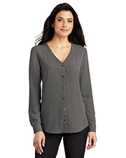 Port Authority LW700 Ladies 4.1 oz Long Sleeve Button-Front Blouse at GotApparel