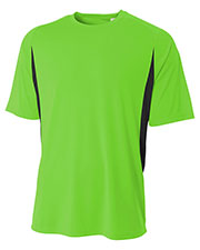 A4 NB3181 Boys Cooling Performance Color Block Short Sleeve Crew at GotApparel
