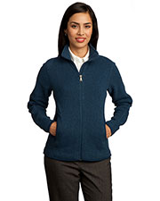 Red House RH55 Women Sweater Fleece Full-Zip Jacket at GotApparel
