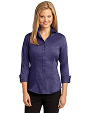 Red House RH69 Women 3/4 Sleeve Nail-head Non-Iron Shirt at GotApparel