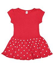 Rabbit Skins RS5320 Toddler Infant Baby Rib Dress at GotApparel