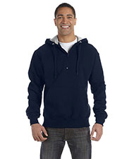 Champion S185 Men for Team 365 Cotton Max 9.7 oz. Quarter-Zip Hood at GotApparel