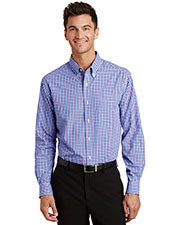Port Authority S654 Men Long Sleeve Gingham Easy Care Shirt at GotApparel