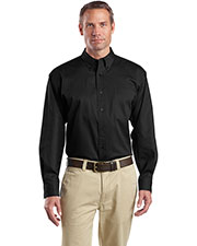 CornerStone® SP17 Men's Long-Sleeve SuperPro™ Twill Shirt at GotApparel