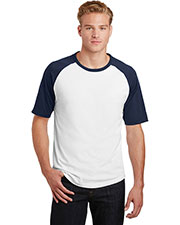 Sport-Tek® T201 Adult Short-Sleeve Colorblock Raglan Jersey at GotApparel