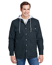 Dickies TJ203 Men Hooded Duck Quilted Shirt Jacket at GotApparel