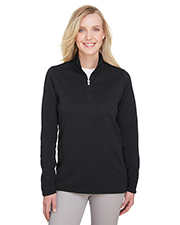UltraClub UC792W Women Ladies' Coastal Pique Fleece Quarter-Zip at GotApparel
