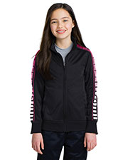 Sport-Tek® YST93 Boys Dot Sublimation Tricot Track Jacket at GotApparel
