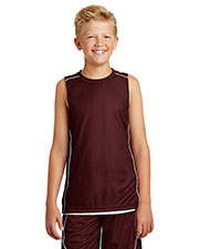 Sport-Tek® YT555 Boys PosiCharge®  Mesh Reversible Sleeveless Tee at GotApparel