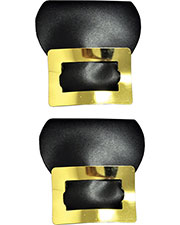 Halloween Costumes BB221GD  SHOE BUCKLES COLONIAL GOLD at GotApparel