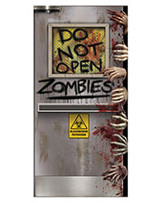 Halloween Costumes BG00037 Zombies Lab Door Cover at GotApparel