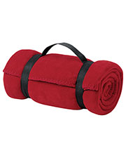 Port & Company BP10 Men Value Fleece Blanket with Strap at GotApparel
