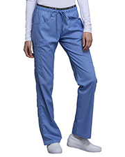 Cherokee Ck003  Mid Rise Straight Leg Pull-On Pant at GotApparel