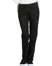 Cherokee Ck003t  Mid Rise Straight Leg Pull-On Pant at GotApparel