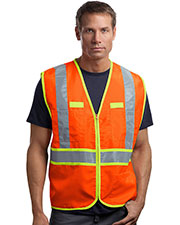 CornerStone® CSV407 Men's ANSI 107 Class 2 Dual-Color Safety Vest at GotApparel