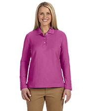 Devon & Jones Classic D110W Women's Pima Pique Long-Sleeve Polo at GotApparel