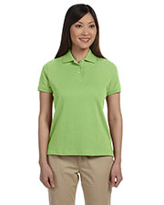 Devon & Jones Classic D140SW Women's Solid Perfect Pima Interlock Polo at GotApparel