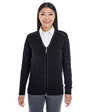 Devon & Jones Classic DG478W Women Manchester Fully-Fashioned Full-Zip Sweater at GotApparel