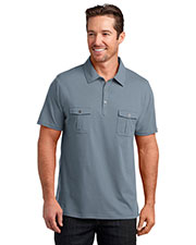 District Made DM333 Men's Double Pocket Polo at GotApparel