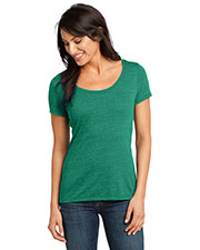 District Made DM471 Women  Textured Scoop Tee at GotApparel