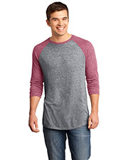 District DT162 Men Microburn® 3/4-Sleeve Raglan Tee at GotApparel