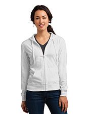 District DT2100 Women Lightweight Jersey Full Zip Hoodie at GotApparel