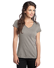 District DT240 Women Slub V-Neck Tee at GotApparel