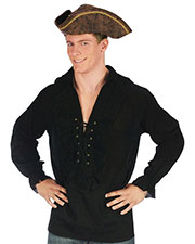 Halloween Costumes FW5410BK Men Shirt Fancy Black Pirate at GotApparel